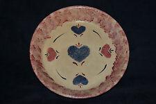 Rare Vintage Stoneware Roseville RRP CO Pottery Sponge Design Lg. Bowl/Pie Plate