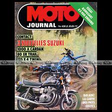 MOTO JOURNAL N°458 PATRICK DROBECQ KAWASAKI 400 KDX KR 500 SUZUKI ER 80 1980