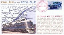 """COVERSCAPE computer designed Final Run of the """"Royal Blue"""" 55th year event cover"""
