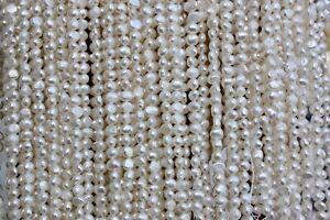 BR50 AA Zuchtperlen Strang Süßwasser Perlenschmuck 6-7mm Halsketten barock