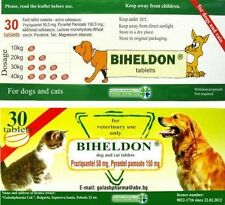 BIHELDON CAT DOG DEWORMER WORMER 30 DOSES BROAD SPRECTRUM 100% SAFE FAST SHIP