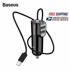 Baseus 5.5A Dual USB Car Charger Phone Adapter for iPhone 11 Pro Max Samsung S10