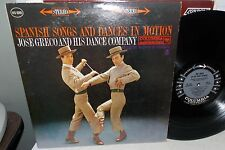 JOSE GRECO SPANISH SONGS & DANCES IN MOTION COLUMBIA MW GREY 6 EYE LP VG+
