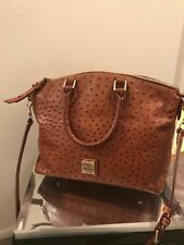 Dooney & Bourke medium satchel crossbody brown ostrich leather Handbag