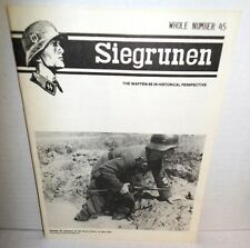 WW2 PERIODOCAL Siegrunen V8 #3 Whole Number 45 1987 op Waffen SS History