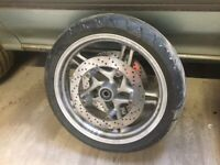 1998 BMW R1100S FRONT WHEEL RIM WITH TYRE *DISCS NOT INCLUDED