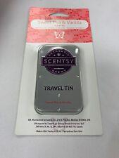 New Scentsy Sweet Pea And Vanilla Travel Tin