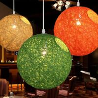 Rope Rattan Chandelier Pendant Light Ceiling Fixtures Chandeliers Ceiling Lamp