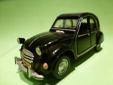 POLISTIL S26 CITROEN 2CV 1/25 - BLACK - REBUILT TO ORIGINAL CAR - VERY GOOD -