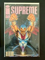 SUPREME #1 IMAGE COMICS [NEWSSTAND] NM- ROB LIEFELD 1992