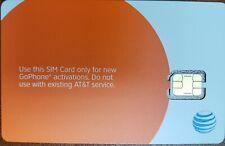 At&T Nano 4Ff Gophone Sim Card • Gsm 4Glte • New Genuine Oem • Prepaid