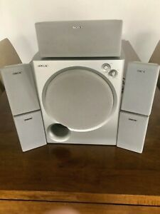 Sony Magnetically Shielded Powered 100W Subwoofer & Surround Speakers