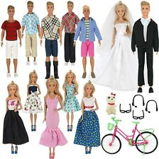 "Fits 12"" Ken Boy 11"" Barbie Doll 33 Pcs Fashion Clothing Accessories,..! NO DOLL"