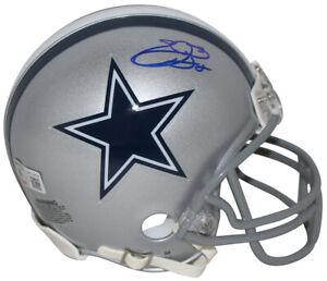Emmitt Smith Autographed/Signed Dallas Cowboys VSR4 Mini Helmet BAS 32561