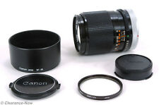 Canon FD 135mm f3.5 S.C.Lens with Lens Case, Lens Hood, Caps and UV Filter 7680