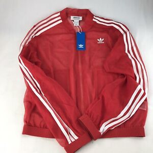 Adidas Women's Red Track Top Jacket #DW3890 Sz Small