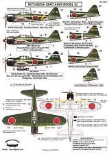 Berna Decals 1/144 MITSUBISHI A6M5 MODEL 52 ZERO Japanese Fighter