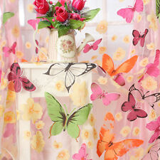 Hot!Butterfly Sheer Print Sheer Window Curtains For Living Room Bedroom Girl