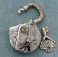 Fraim Railroad Type Pad Lock with Two Keys for Tinkerer