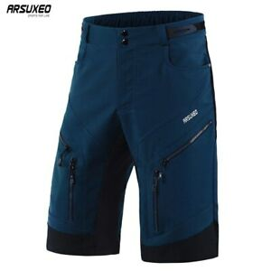 ARSUXEO Men's Cycling Shorts Loose Fit Downhill MTB Mountain Bike Shorts Outdoor