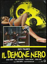 CINEMA-fotobusta IL DEMONE NERO palance,ward, brown, DAN CURTIS