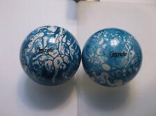 "Duckpin Balls/REFINISHED/Comanche's/2 Ball Set/ 5"" /3lbs 11oz/Perfect Condition"