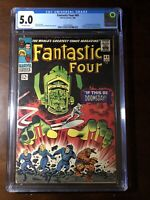 Fantastic Four #49 (1966) - 1st Galactus!! 2nd Silver Surfer!! - CGC 5.0 - Key!!