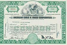 Aktie USA American Cable & Radio Corporation (später ITT Corp.)