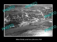 OLD LARGE HISTORIC PHOTO OF MILTON FLORIDA, AERIAL VIEW OF THE TOWN c1940 2