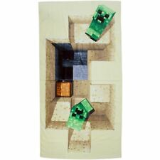 MINECRAFT DEFEAT TOWEL CHILDRENS BEACH TOWEL 100% COTTON VELOUR FEEL QUALITY NEW