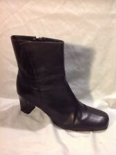 Footglove Black Ankle Leather Boots Size 7.5