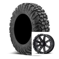 Set of (4) EFX 30-9.5-14 MotoVator SxS Moto Vator DOT Tires & MSA Rims Mounted