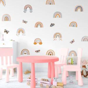 Boho Style Rainbow Wall Stickers Decals Kids Room Playroom Nursery Decor