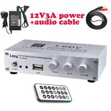 Digital Mini Audio Stereo Home Car Amplifier Power Adapter Remote Control Hi-Fi