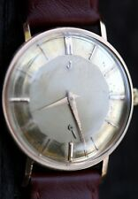 Vintage Solid 18k Gold Man's JUVENIA Hand Winding w/Gold Mirror Sub-Seconds Dial