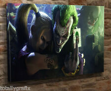 "Large Canvas Wall Art Print Picture Joker And Harley Quinn 18""x32"" Giclee JJ03"