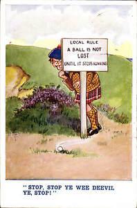 Golf Comic. Stop, Ye Wee Deevil # 3559 by Humoresque.