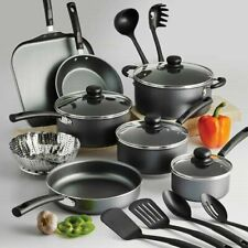 Non Stick Cooking Pots and Pans & Lids 18 Piece Cookware Set Nonstick Tramontina