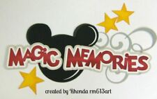 DISNEY MAGIC MEMORIES title paper piecing Premade Scrapbook Pages by Rhonda