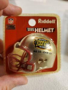 Riddell pocket NFL NEW ENGLAND PATRIOTS SUPER BOWL XXXVIII 38 football helmet