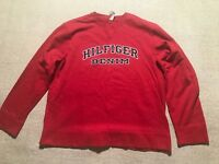 Vintage Tommy Hilfiger Denim Crewneck Sweater Size XL Spellout Red #K7