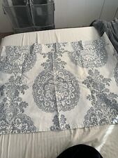 Pottery Barn King Size Pillow Sham Set Of 2 Gray Damask