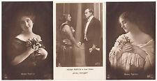 3 x Foto AK SCHAUSPIELER um 1917 HENNY PORTEN     ( 1038