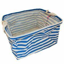 Cotton Display / Storage Basket - Blue and White Stripes - BNWT