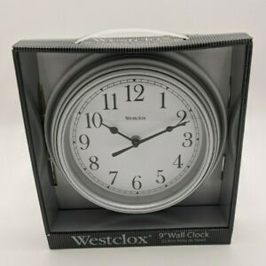 "WESTCLOX BLACK 9"" Quartz Wall Clock New In Box"