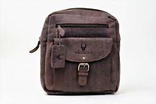 Mochila Messenger Bag en auténtico cuero de búfalo en look vintage
