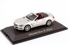 NOREV 2012 MERCEDES BENZ SL 1:43 SILVER NEW RELEASE! Rare Dealer Edition!