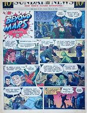Beyond Mars by Jack Williamson - scarce full tab Sunday comic page Mar. 21, 1954