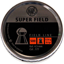 RWS Super Field .177 Pellets 4.51mm Air Gun Ammo Domed Full Tins 500 Superfield