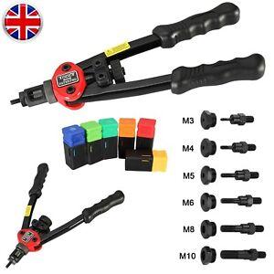 Professional Hand Nut-Tool Riveter Rivnut-Gun Mandrels M3- M10 Rivet Repair Sets